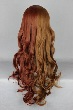 Brown Mixed Color Sexy Long Deep Curly Lolita Wig