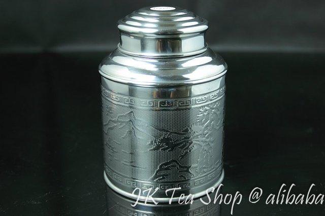 150g Tea Capacity(Super airtight, thick tin material) Tin Canister Airtight Storage Jars Botes Stainless Steel Tea pot