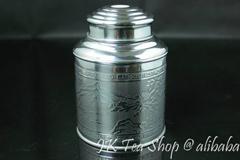 150g Tea Capacity(Super airtight, thick tin material) Tin Canister Airtight Storage Jars Botes