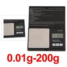 Buy High 200g * 0.01g Gram Weight Balance LCD Electronic Scale Pocket Digital Scale Jewelry Gold Diamond Weighting Scale for $4.84 in AliExpress store