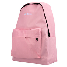 New Women Backpack Letter Print Large Capacity Zipper Pocket Student School Outdoor Casual Shoulder Bag For Girls Teens(China (Mainland))