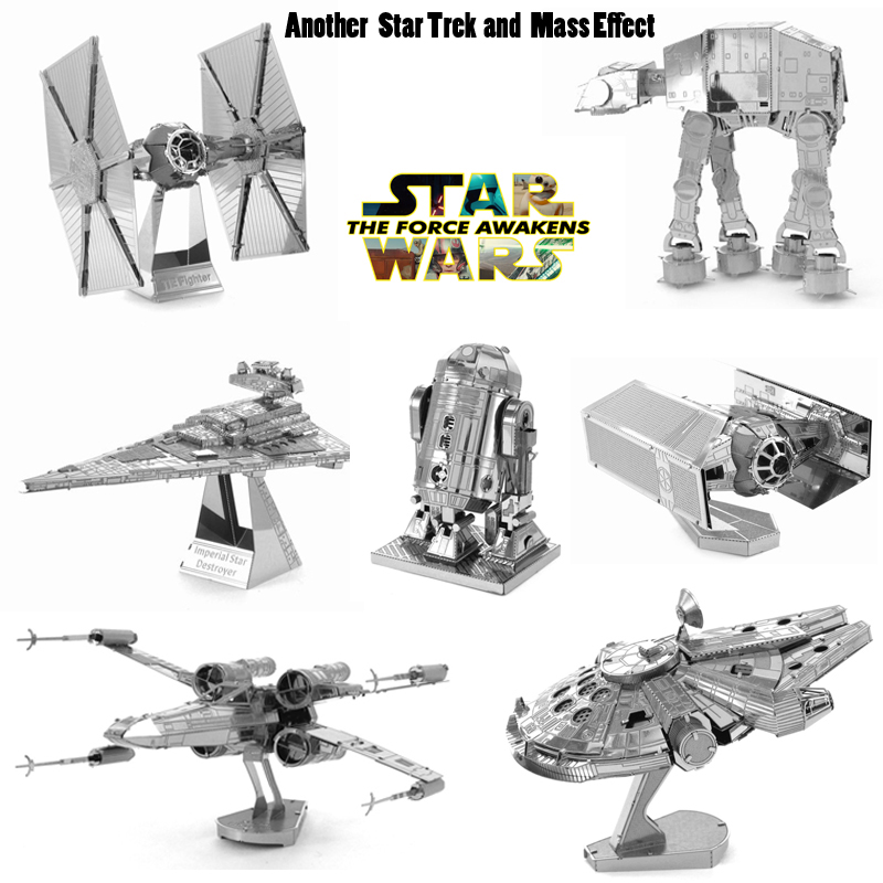 Hot Sale Star Wars Model Building Kits 3D Metal Puzzle DIY Model Toy AT-AT R2D2 Falcon Model Children's&Adults Assembling Toys(China (Mainland))
