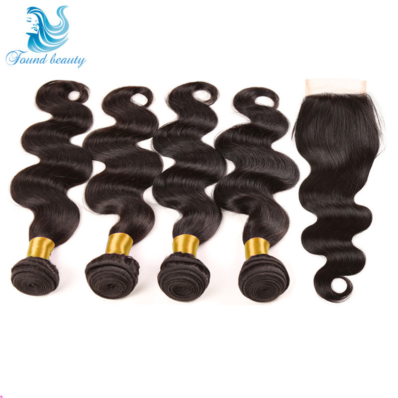 Brazilian Virgin Hair Closure With Bundles Grade 7a Unprocessed Virgin Hair With Closure 5 Piece lot with Closure Body Wave Lula<br><br>Aliexpress