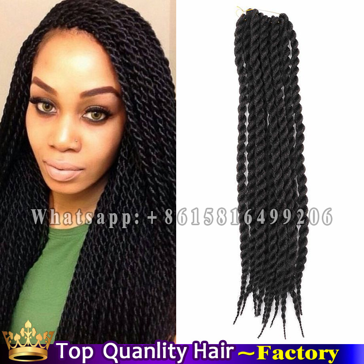 Crochet Hair Sale : Twist Synthetic Hair Crochet braids Black high quality braiding hair ...