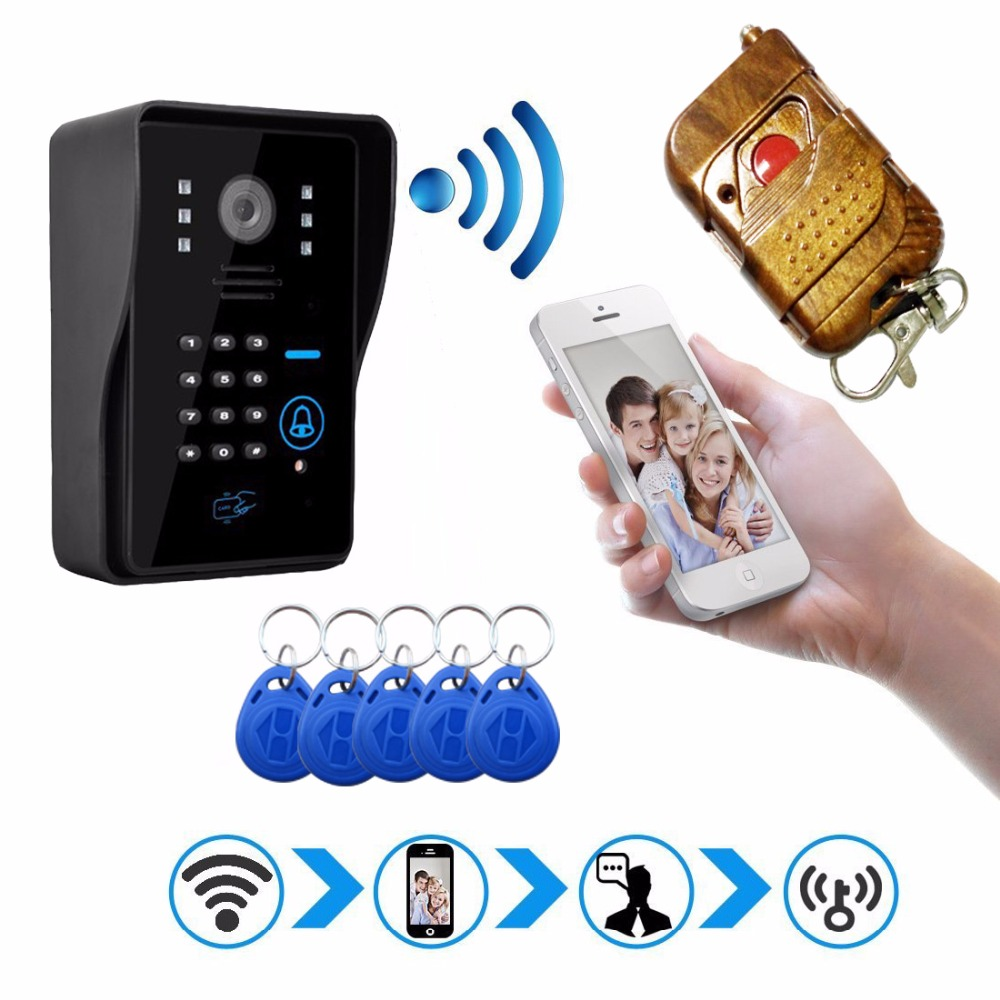 New Hot HD Wifi Doorbell Camera Wireless Video Intercom Phone Control IP Door Phone Wireless Door bell IOS Android(China (Mainland))