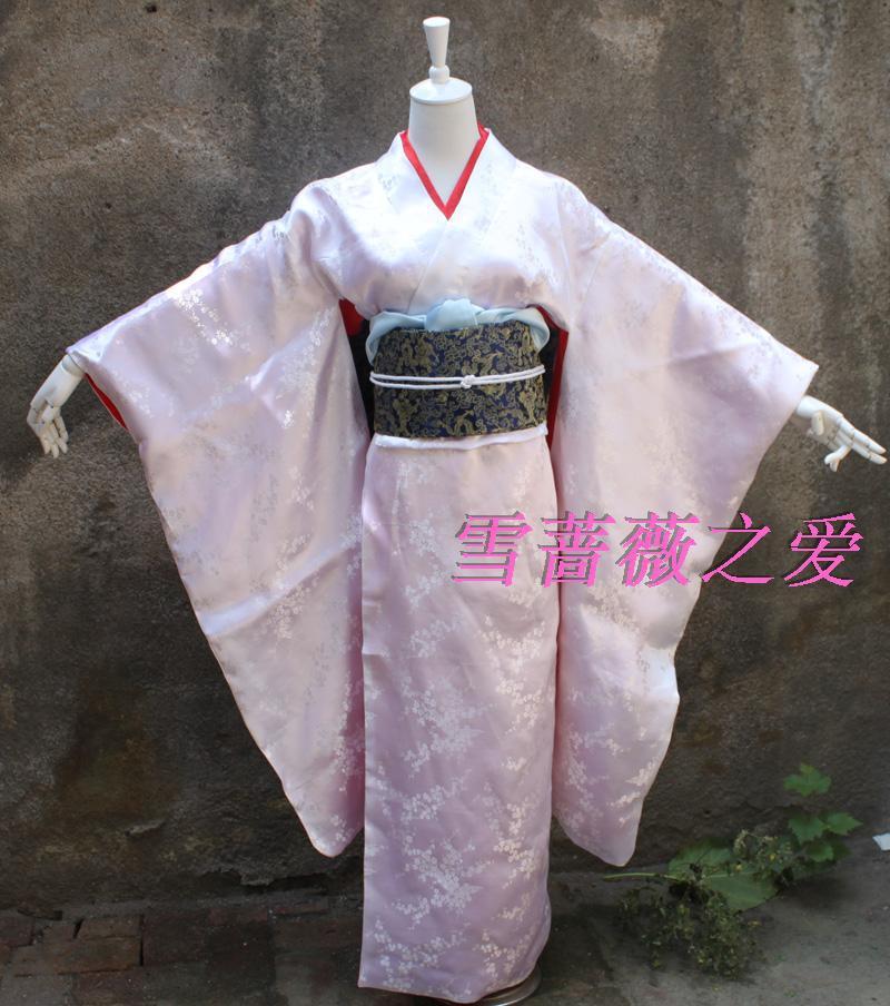 New Halloween Fancy Adult Japanese Anime Furisode Kimono Anime Cosplay Costumes Lolita Cute COS Costumes