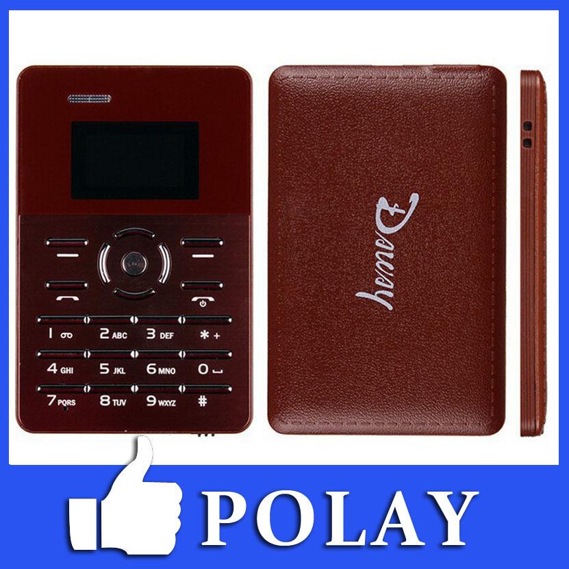 Original Kingsing Chocolate Card Mobile Phone 1.0 Inch Screen 4mm Ultra Thin Pocket Mini Phone GSM FM MP3 Blutooth 35g Russian(China (Mainland))
