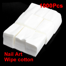 1000 Pcs Nail Wipe Cotton Makeup Wipes Cotton Pads For Nail Art Polish Acrylic Gel Tips Remover Cleaner(China (Mainland))
