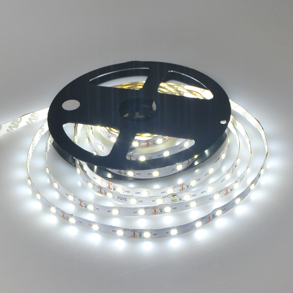 5M / Roll White / Warm White 3528 SMD LED Strip light Flexible String Ribbon 60 LEDs /M lamp Tape For Indoor Decoration lighting(China (Mainland))