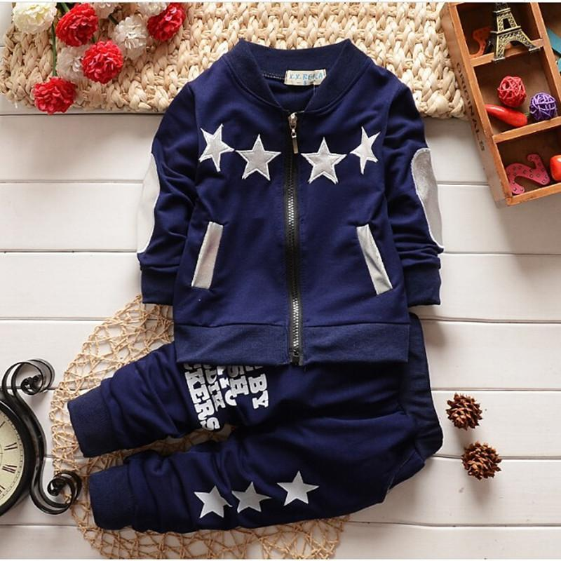 2016 new spring/autumn baby Boy clothing set boy sports suit set children christmas outfits girls tracksuit clothes T shirt+pant<br><br>Aliexpress