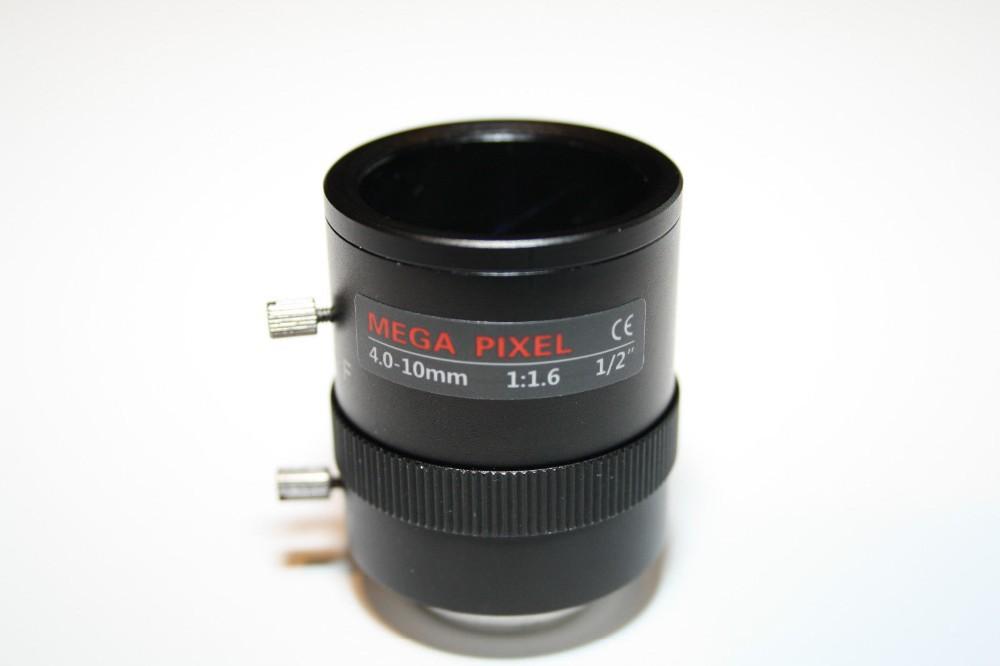 4-10mm Varifocal Manual Iris CCTV Camera Zoom Lens C Mount 2MP(China (Mainland))