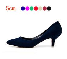 Wholesale 2015 Cute Shoes Low Heels Women's Mini Size 33 Summer bridal Low  Heel Shoes White Black Nude Gold Sliver Pumps