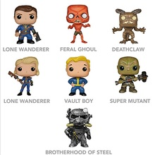 Funko Pop Fallout 4 Vault Boy 53# Lone Wanderer Poer Armor Game Action Figure PVC Collection Toy 10cm hot Gifts