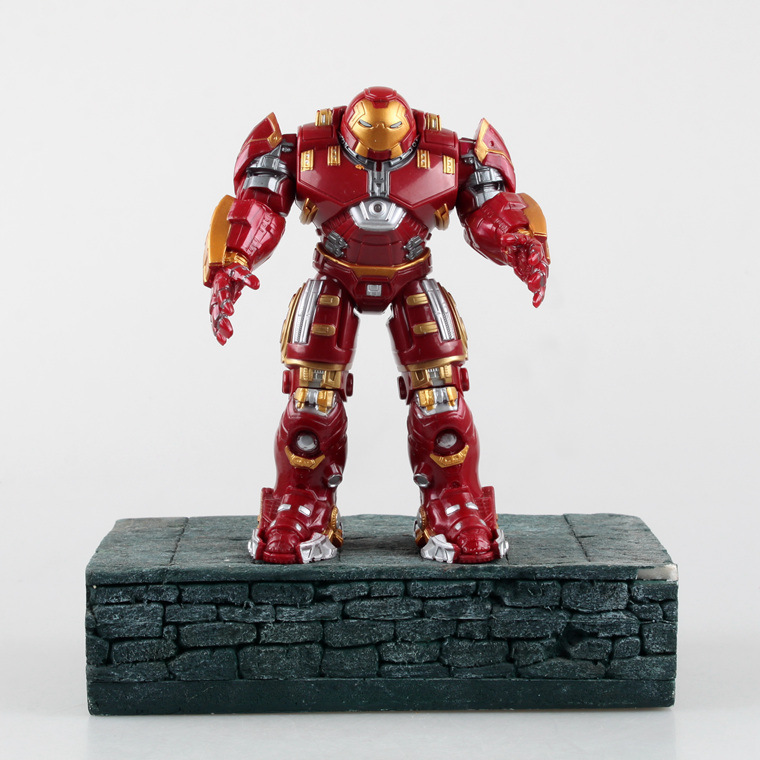 Marvel Shield America Anime Avengers Age Ultron iron Man Anti Hulk Metallic luster Action Figure Toy Juguete 18cm PVC Model 0191(China (Mainland))