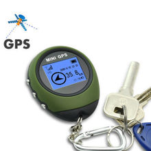 Hot Sale, New Green Portable Mini Hand-held GPS Navigator Navigation Receiver + Location Finder + Keychain, Free & Drop Shipping(China (Mainland))