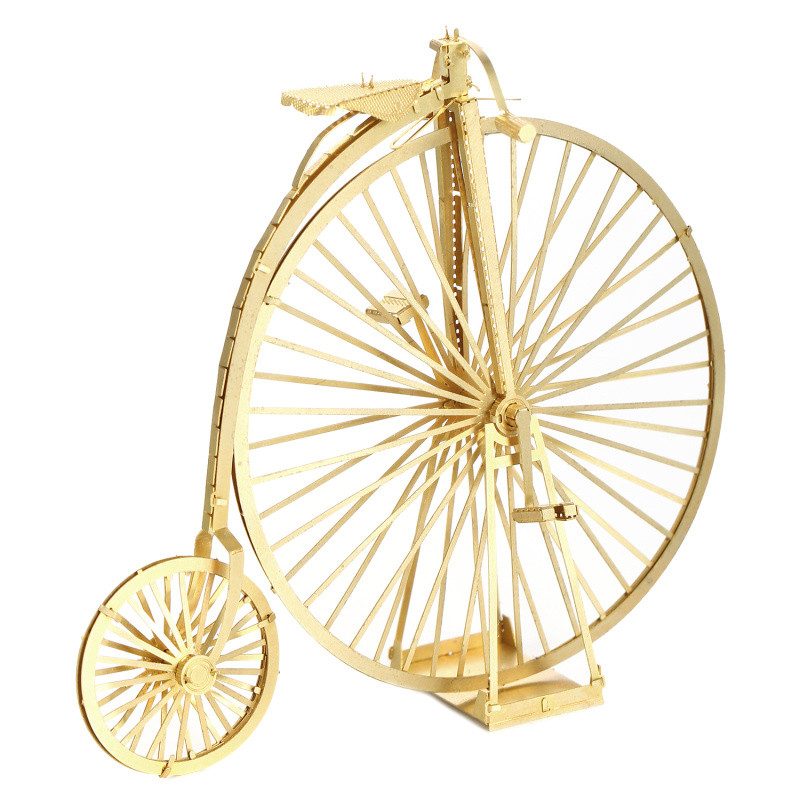 3D metal model puzzle funny golden bike kids puzzle educational puzzle children toys gifts