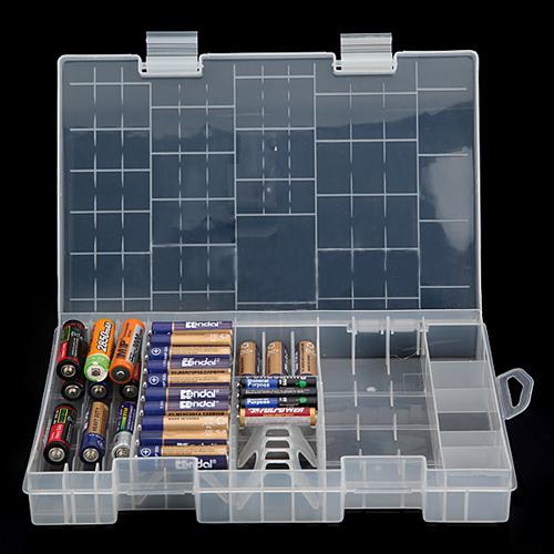 USA Stock! Multi-function AAA AA C D 9V Battery Holder Hard Plastic Case Storage Box Racks(China (Mainland))