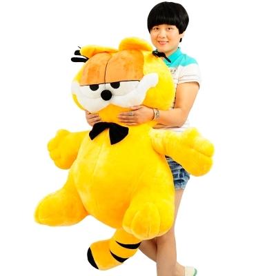 2016 High quality 100cm High Quality Anime Garfield Toy Soft Stuffed Large Cartoon Cat Doll Nice Gift(China (Mainland))