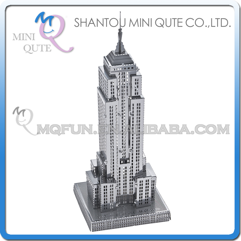 5pcs/lot Mini Qute 3D Metal Puzzle Empire State Building world architecture building Adult model educational toys gift NO.B11109(China (Mainland))