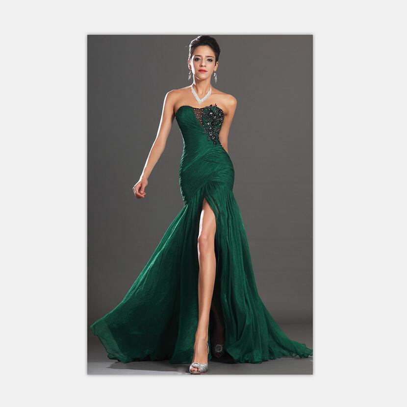 sommerkleid meerjungfrau smaragdgr n chiffon liebsten langes abendkleid abendkleid 2015 vestido. Black Bedroom Furniture Sets. Home Design Ideas