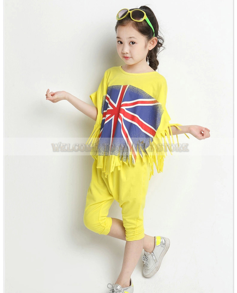 New Personality Design Childrens Clothing Sets Baby Girl Summer Dresses Novelty Girl Boutique Outfit(China (Mainland))