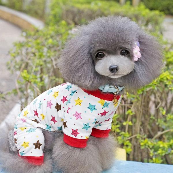 [해외]강아지 강아지 스타 / 토끼 패턴 잠옷 의류 애완 동물 귀여운..
