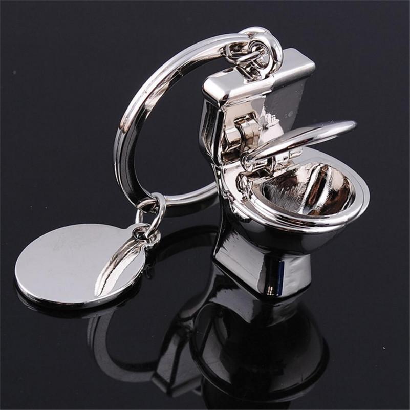 creative personality metal toilet keychain charm key chain good gift for friend bathroom gift kc1726