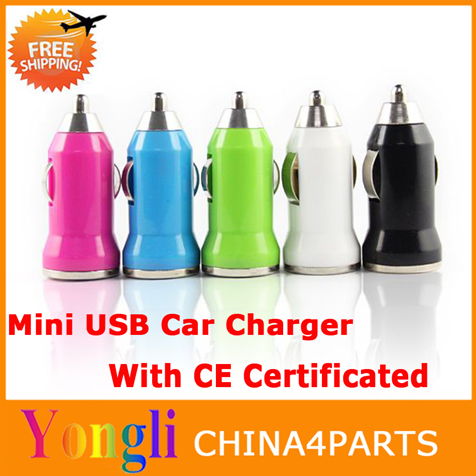 Classic colorful mini usb car charger for apple iphone ipod,5V 1000MA usb car charger for iphone 4s(China (Mainland))