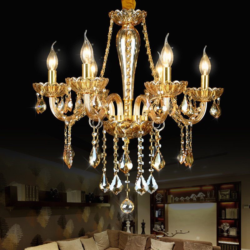 modern led chandelier crystal lustres de cristal sala. Black Bedroom Furniture Sets. Home Design Ideas
