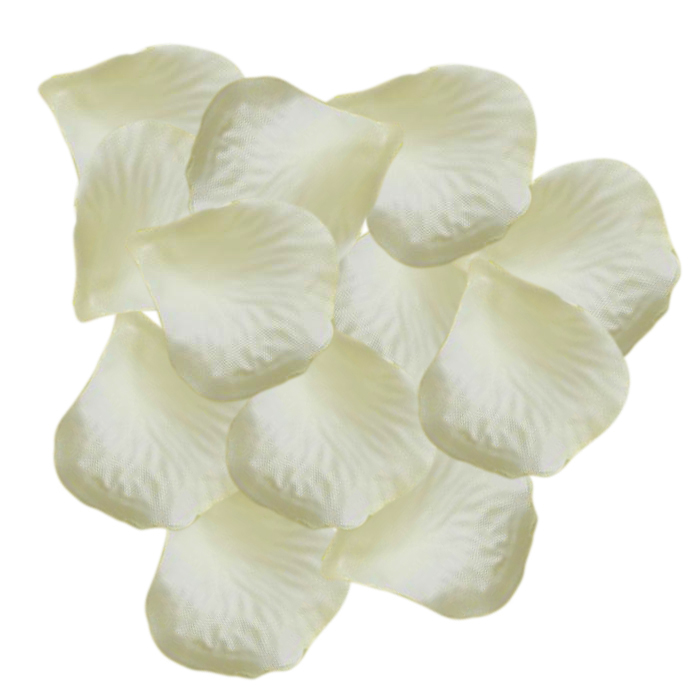 New Hotsale Promotion Domire 1000 Pcs Heart Shaped Red Rose Petals,Ivory white(China (Mainland))