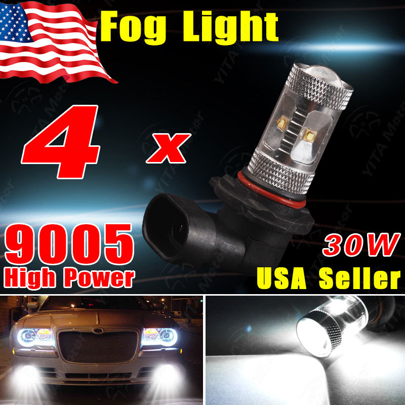 Hot Selling led Car Xenon White 9005 HB3 30W LED Projection Fog/Driving DRL Low Beam Light Bulb 720LM led Bulbs for Cars(China (Mainland))