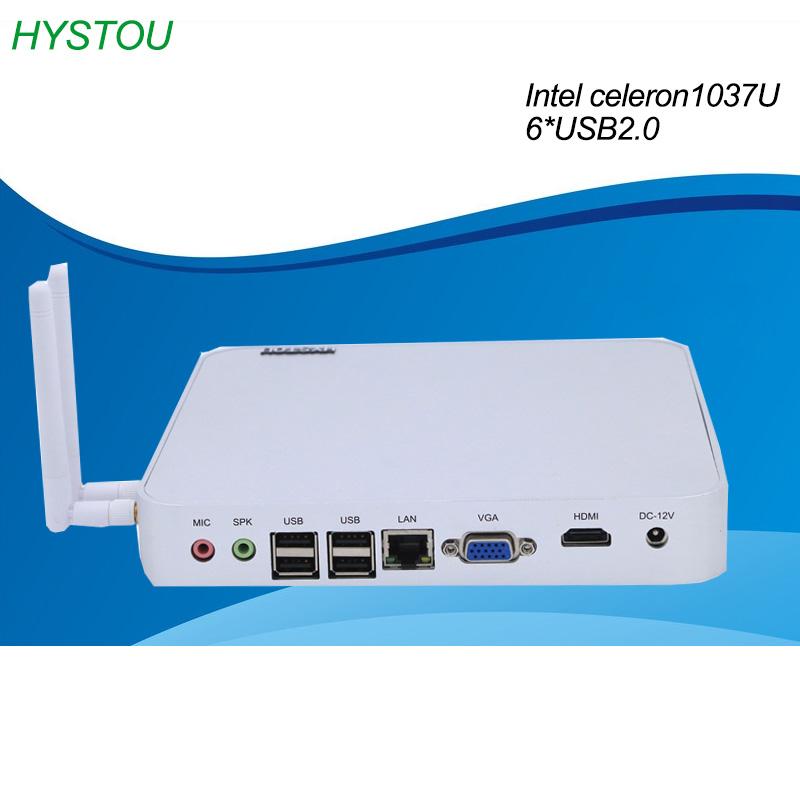 Intel Celeron 1037u Windows All-In-One 1 LAN 6USB2.0 Fanless PC Wholesale Mini Computer Gaming Barebone ITX HTPC TV box(China (Mainland))