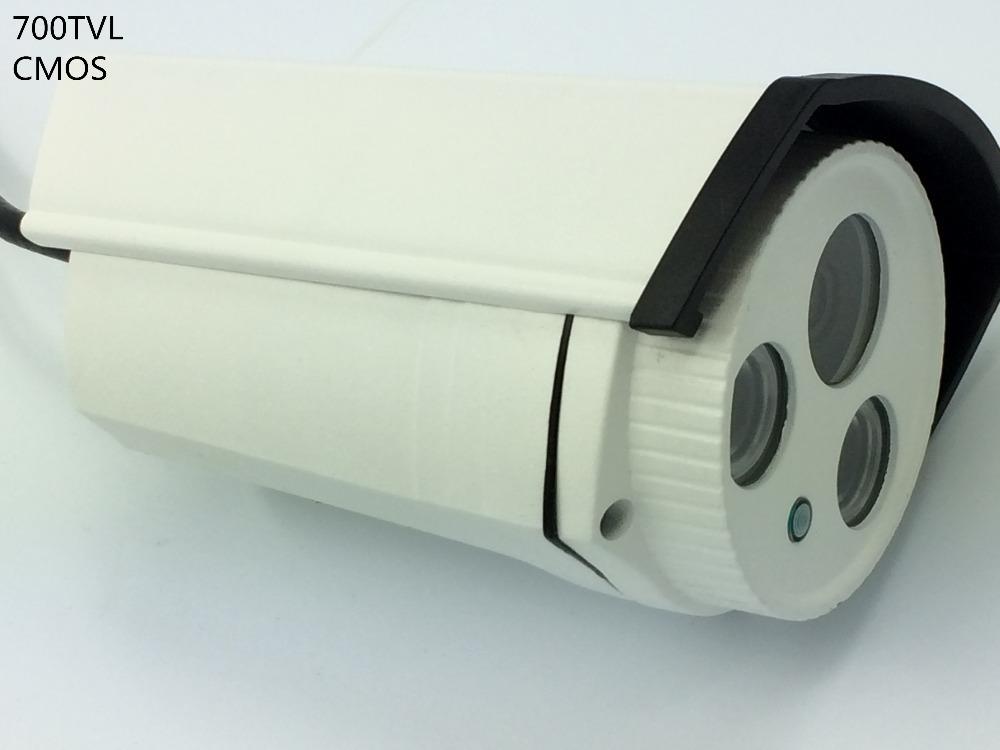 """Здесь можно купить  1/4"""" CMOS 700TVL CCTV System analog camera IP66 2pcs array IR 40M ir distance  Безопасность и защита"""