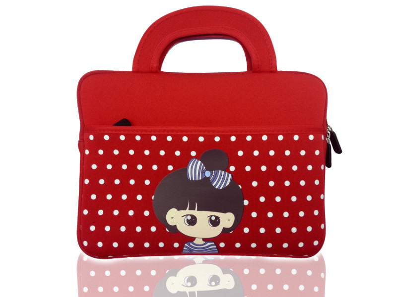 Umiko New Brand Cute Cartoon Girl Tablet Sleeve Tablet Pouch Case+Free Pen for Ipad 2/3/4/5/6 Hot Sale High Quaity Case for Ipad(China (Mainland))