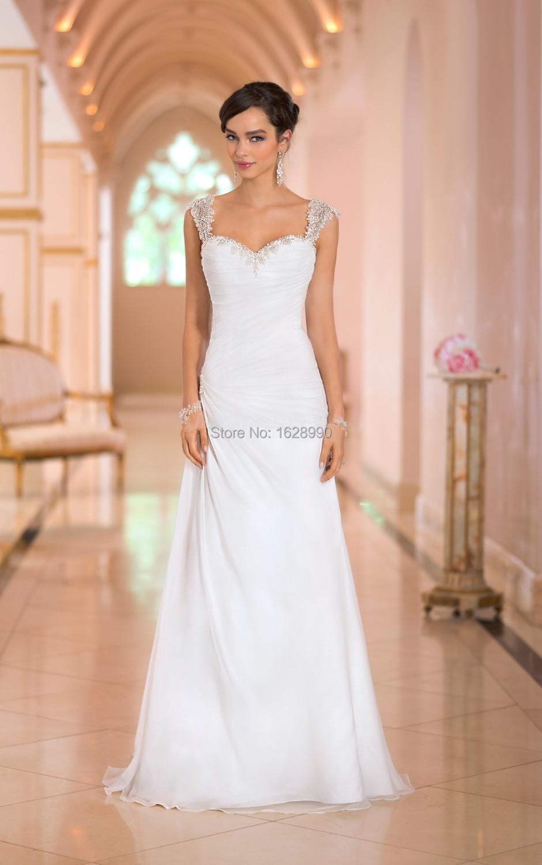Romantic robe de mariage mariee 2015 White Beach Wedding Dresses Gowns ...