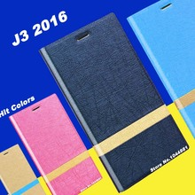 Samsung galaxy j3 2016 case cover leather New wave phone Hit color - Shenzhen Electronics Accessories Co., Ltd store