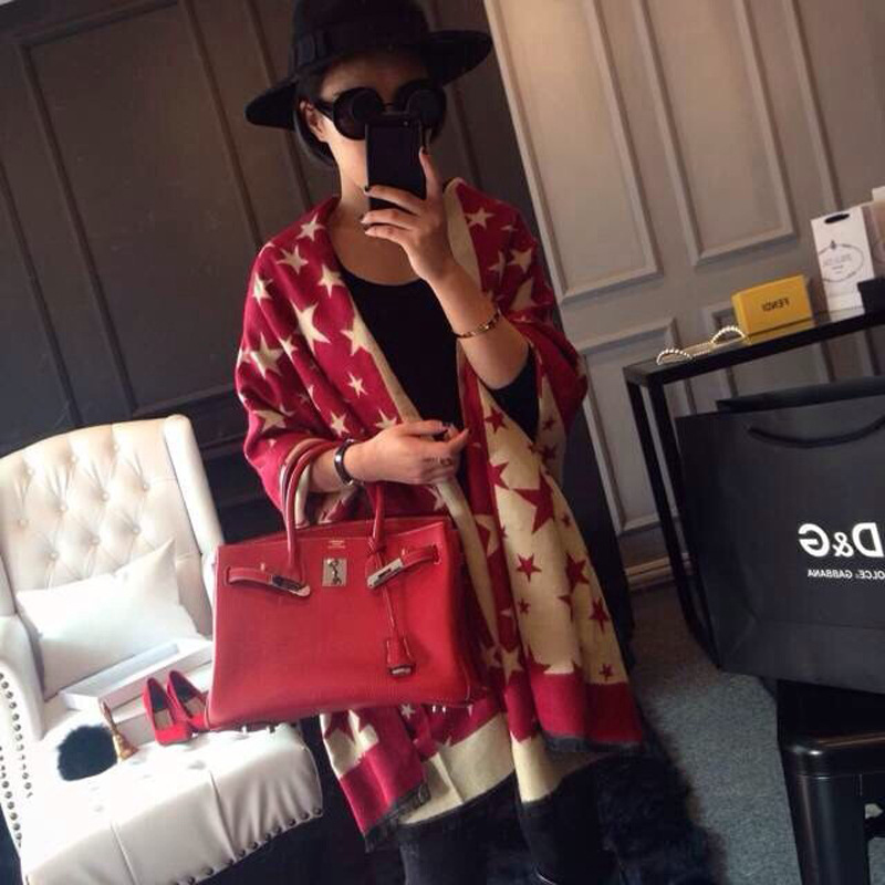 Hot Sale High Quality Stars Women Elegant Cashwere Scarf Long Design All-match Shwal Wraps Free Shipping 7996(China (Mainland))