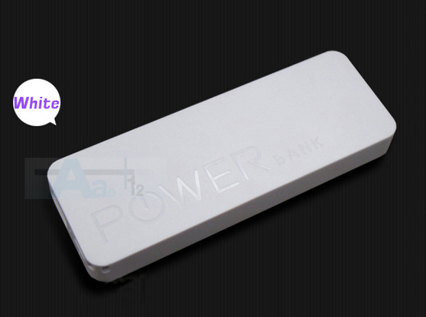 White 5600mAh Ultrathin Power Bank Power Bank Mobile External Battery Polymer Power Bank Battery Charger for HUAWEI HTC