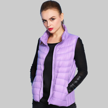 16 Color Plus Size 2015 Autumn Winter Sleeveless Jacket Female Ultra light Duck Down Vest Women Parkas Mujer XXXL YB838
