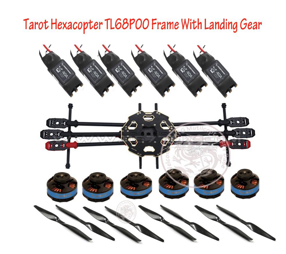 Tarot 680 Pro ARTF Hexacopter TL68P00 with landing gear w/ Tarot 4006 620KV Motor & Hobbywing 40A OPTO ESC FPV Multi-Rotor Combo(China (Mainland))
