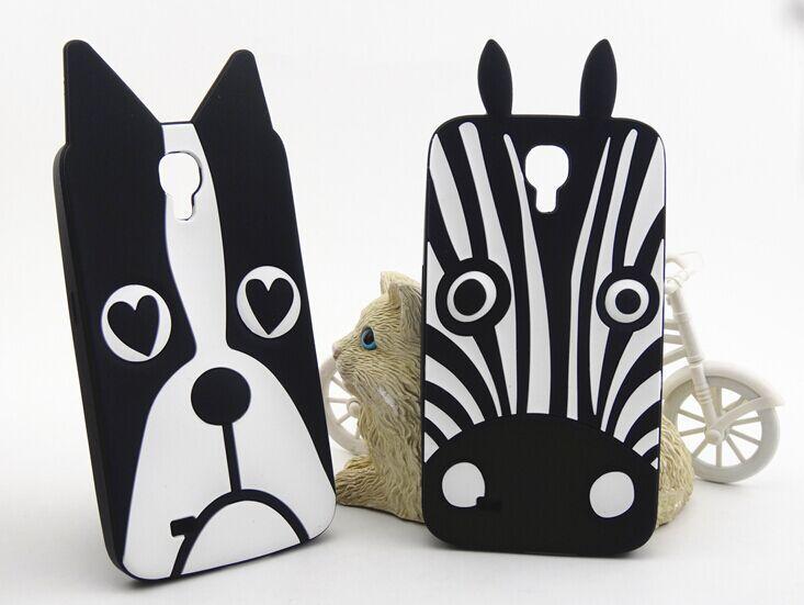 New Marc.Jacobs Cute Cartoon Animal Design Love Dog/Zebra/Owl Soft Silicone Phone Case Cover for Samsung Galaxy S4 I9500(China (Mainland))