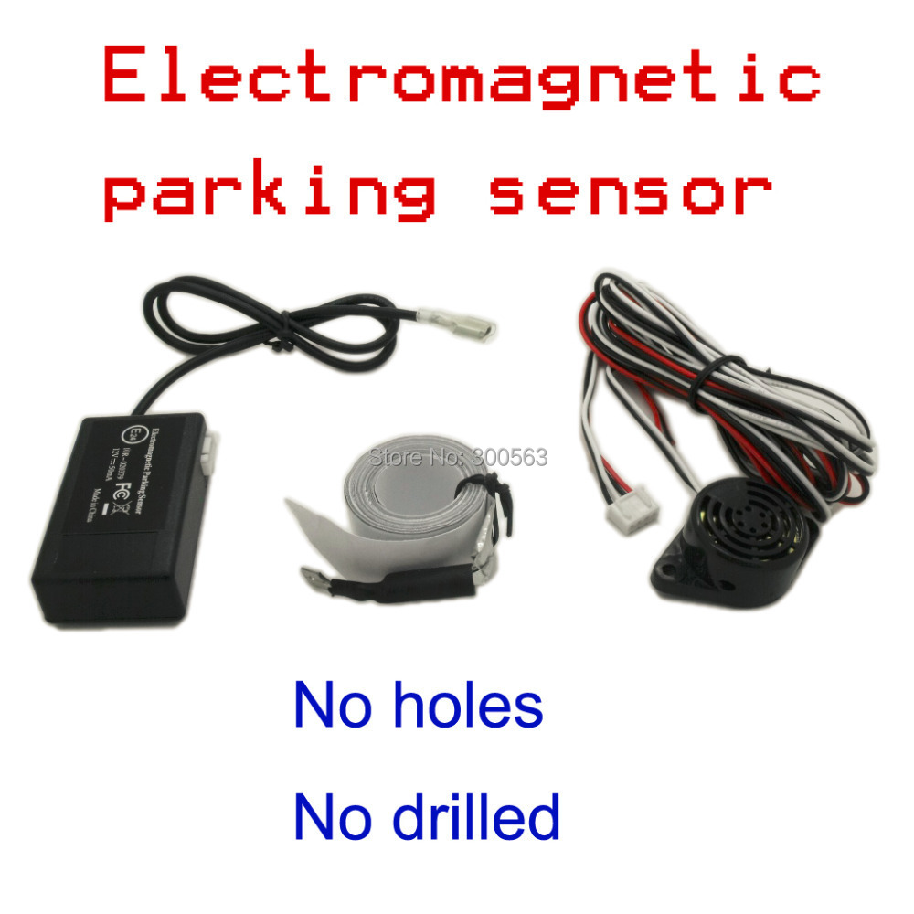 Free shipping auto electromagnetic parking sensor no holes need,easy install,parking radar,Bumper guard back-up parking sensor(China (Mainland))