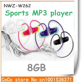free shipping New w262 gift sports Mp3 earphone headphones music player 8gb dropshipping(China (Mainland))