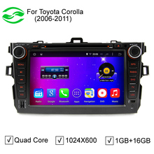 """HD 8"""" Capacitive Screen 2 Din Auto DVD GPS Quad Core Android 4.4 Car PC For Toyota Corolla 2007-2011 With DVR OBD WiFi 3G(China (Mainland))"""