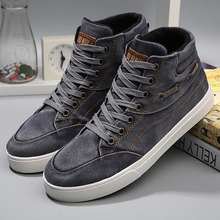 Men Shoes High-Top Canvas Shoes New 2016 Comfortable Canvas Shoes Male Casual Lace Up Flats Shoes Sapatos Tenis Masculino 2A