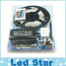 Buy Led RGB 5050 Strips Light Waterproof + 24 Keys IR Remote Control + 12V 5A Power Supply EU/AU/UK/US Plug for $701.00 in AliExpress store