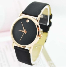 Geneva Platinum Watch Women Dot Golden Watch PU Leather vintage wristwatch woman Casual Dress Quartz watch watch Dropshipping(China (Mainland))