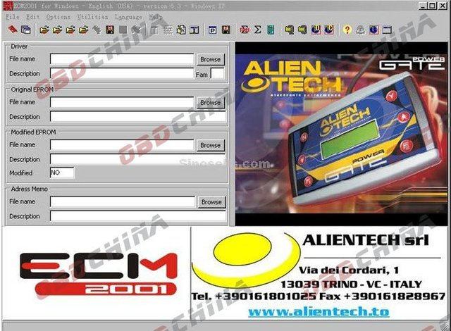 ECM Chiptuning 2001 V6.3 with 11500 Drivers [GinaGuo--OBDChina] (ecm chiptuning software,download,ecm chiptuning 2001 v6.3)