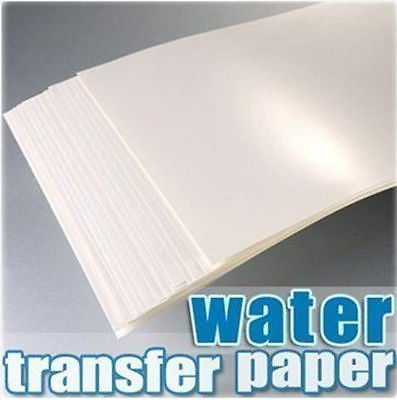 20PC new A4 inkjet waterslide decal model transmission A4 inkjet transparent water transfer paper (transparent background)(China (Mainland))