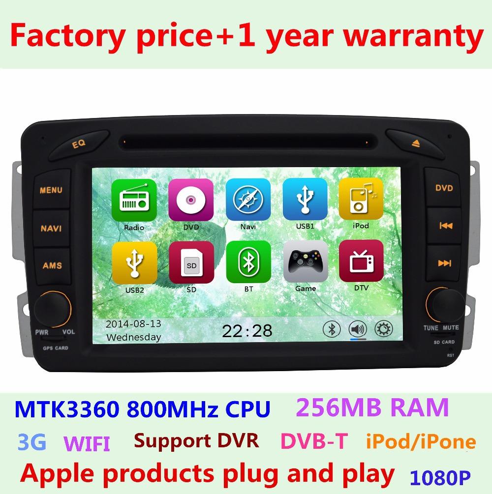 Factory Price Car DVD Player Mercedes Benz C CLK Class W203 S203 C209 W209 C208 W208 GPS Navigation 3G WIFI USB Radio Bluetooth(China (Mainland))